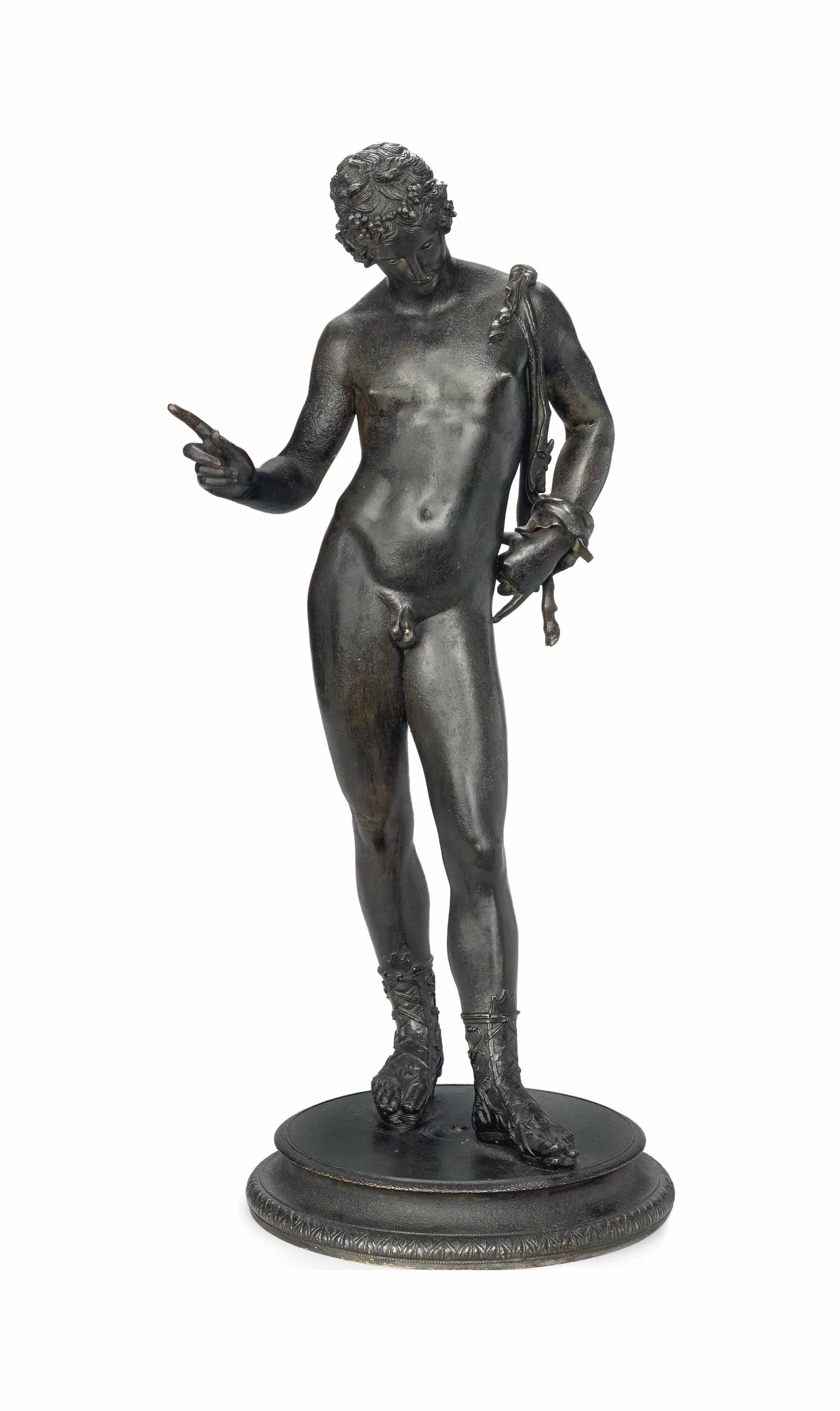 A NEAPOLITAN BRONZE MODEL OF N