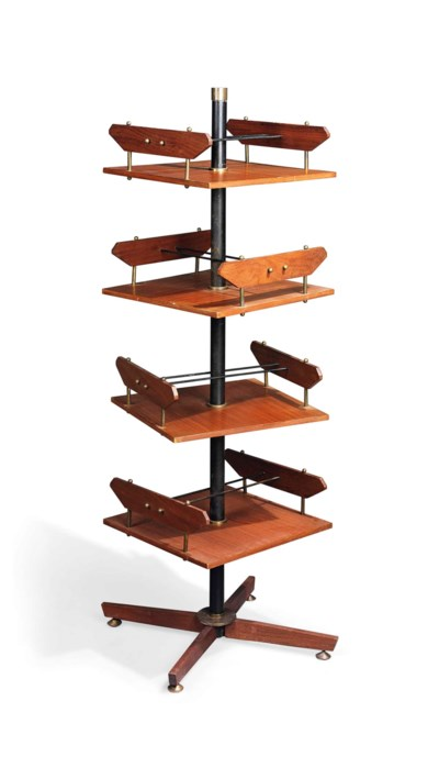 AN ICO PARISI TEAK, WALNUT AND