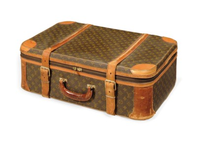 TWO HARD-SIDED SUITCASES AND A