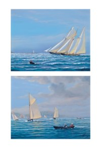Boston Lighthouse; and Appledore Regatta, Devon (both illustrated)