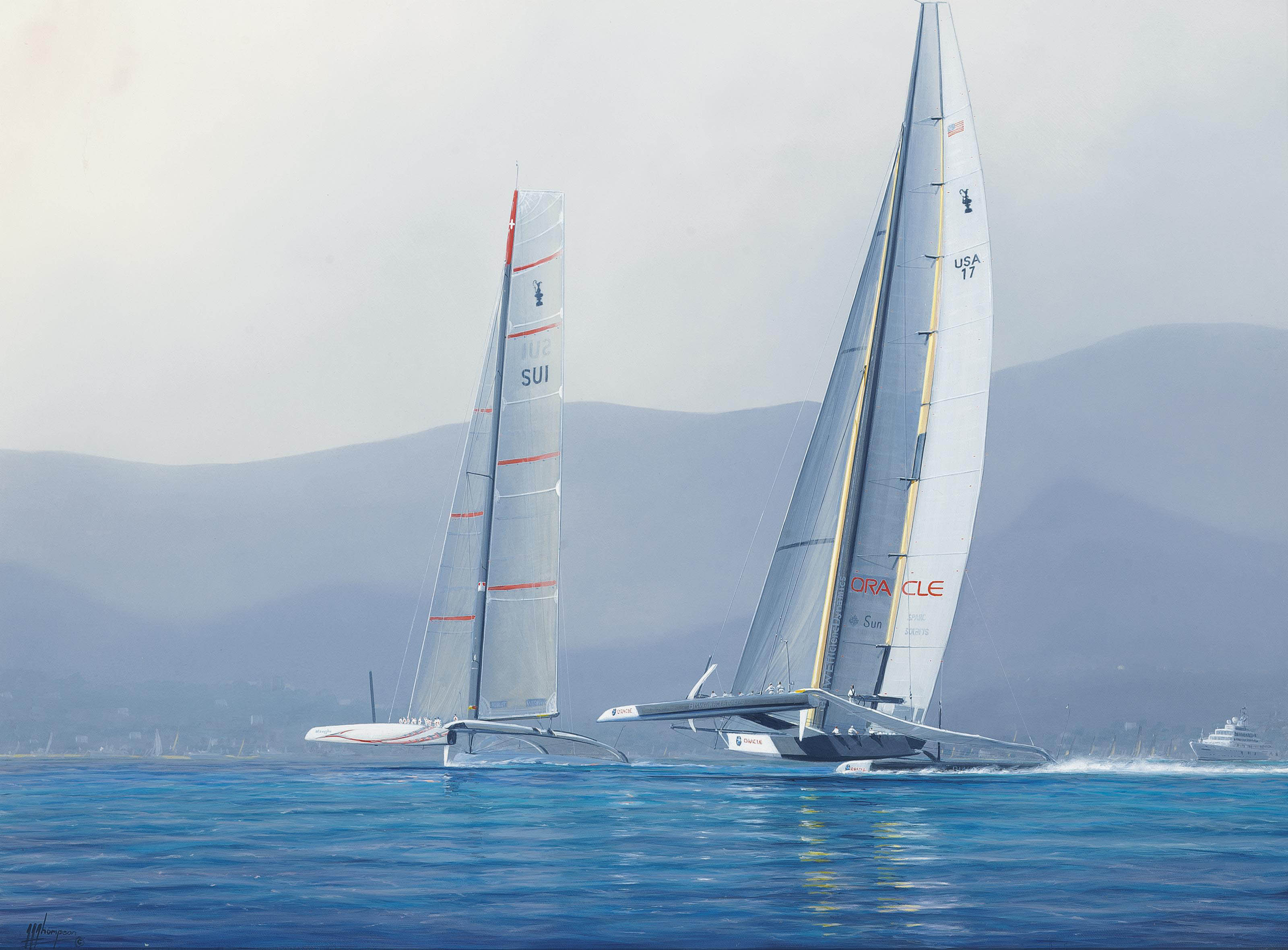 The America's Cup, Valencia, Spain, 2010: Oracle versus Alinghi