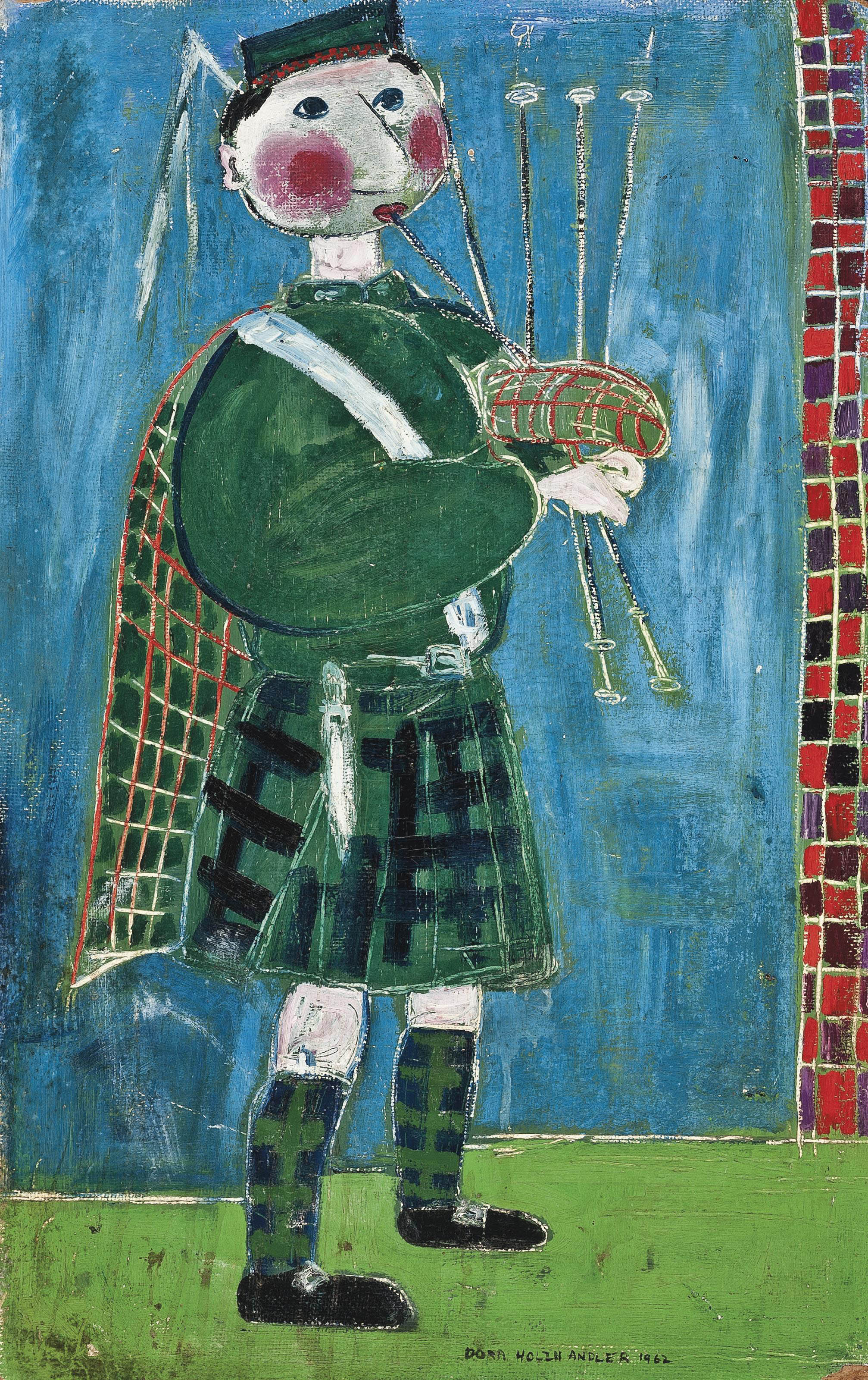 Piper; and Figures in a park
