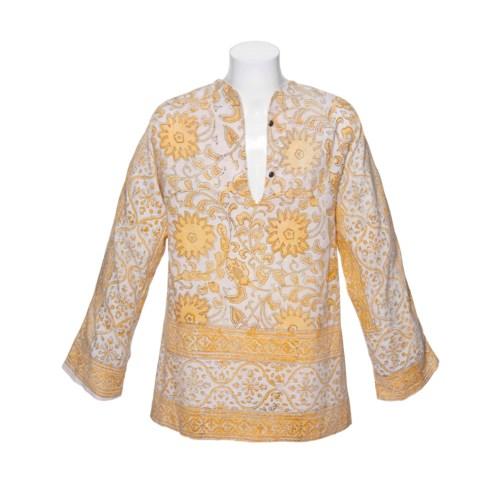 滚石乐队的长袖棉质束身外衣,印有黄色花朵、叶子和叶状图案;以及一条黄色的棉质围巾。米克·贾格尔于1960年代末曾穿戴过的外衣和围巾,后来他将它们赠送给斯坦·克洛索夫斯基·德罗拉王子。2012年6月12日在佳士得伦敦以23,750英镑成交。