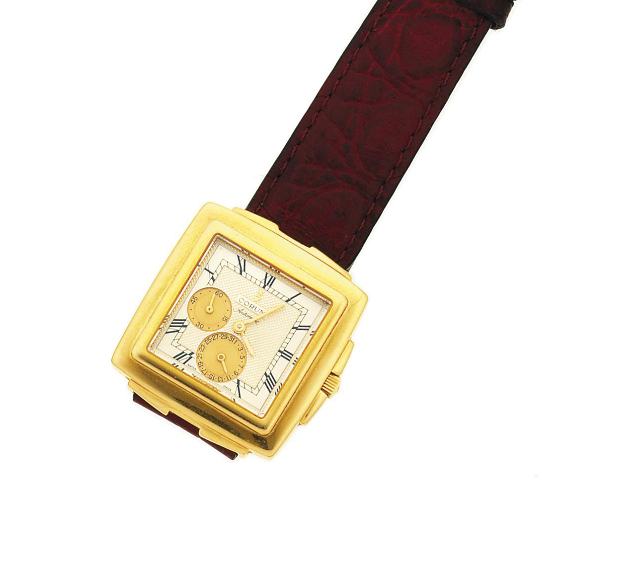 An 18ct gold automatic wristwatch, by Corum