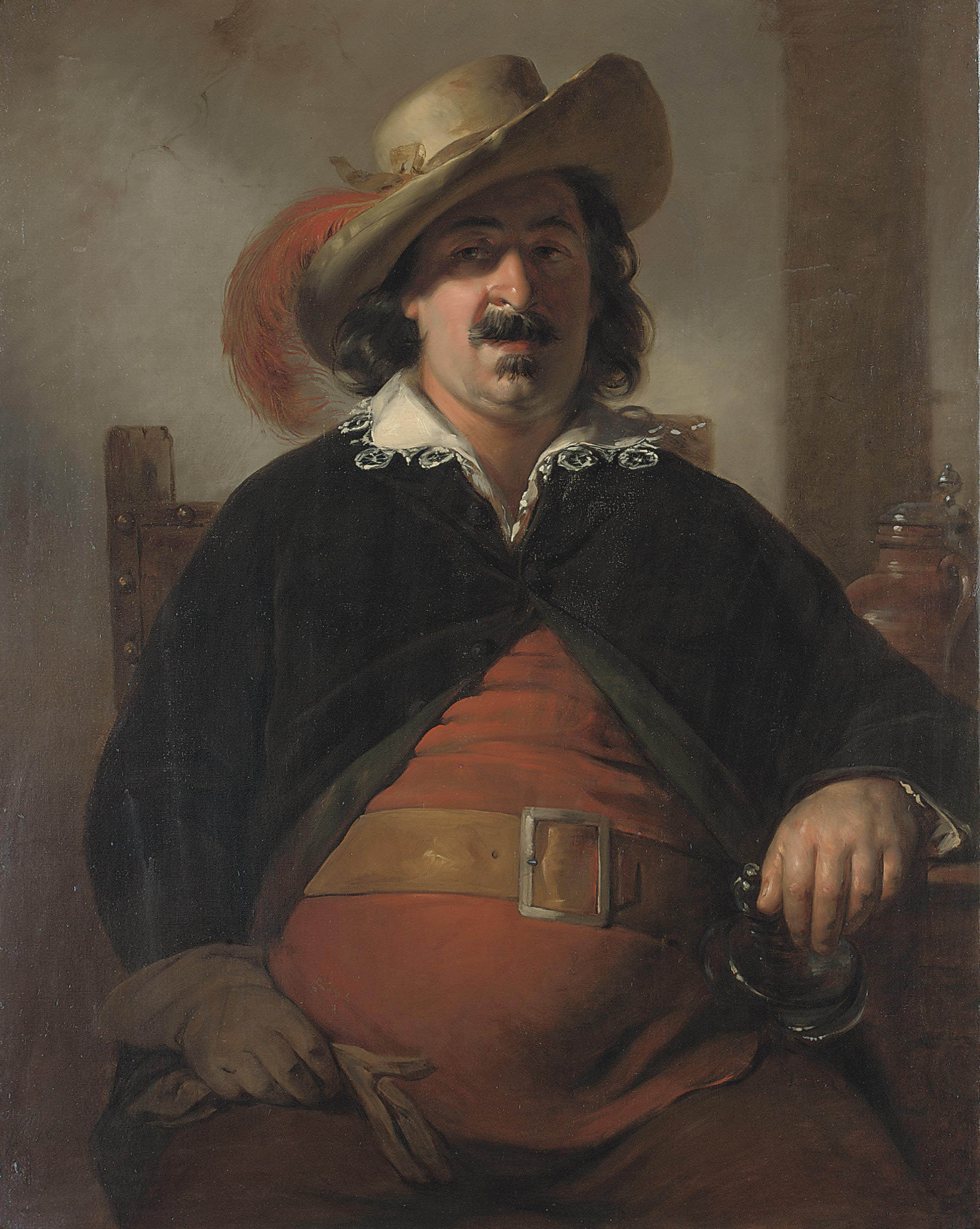 The painter Ignaz Raffalt as Falstaff