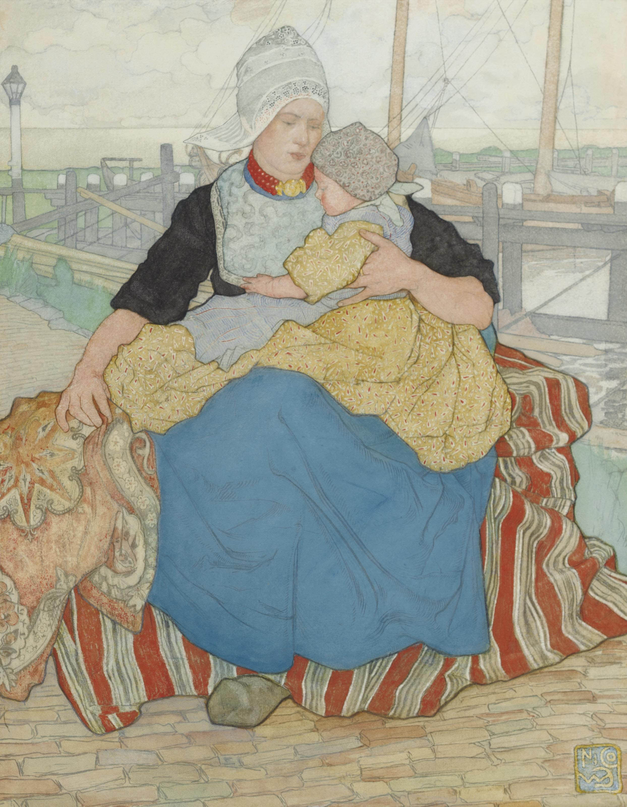 Holding a loved one on the quay