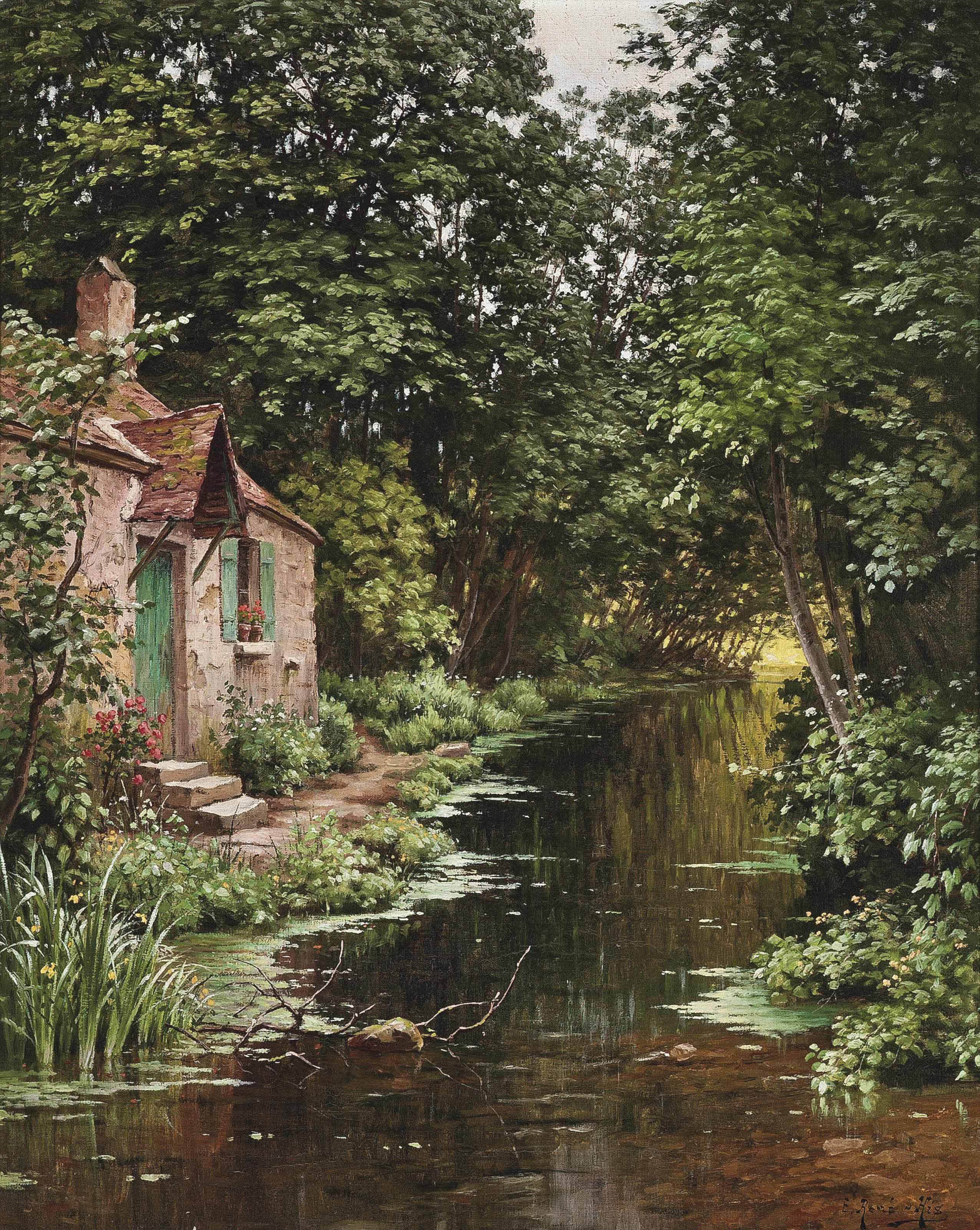 A cottage on the riverside