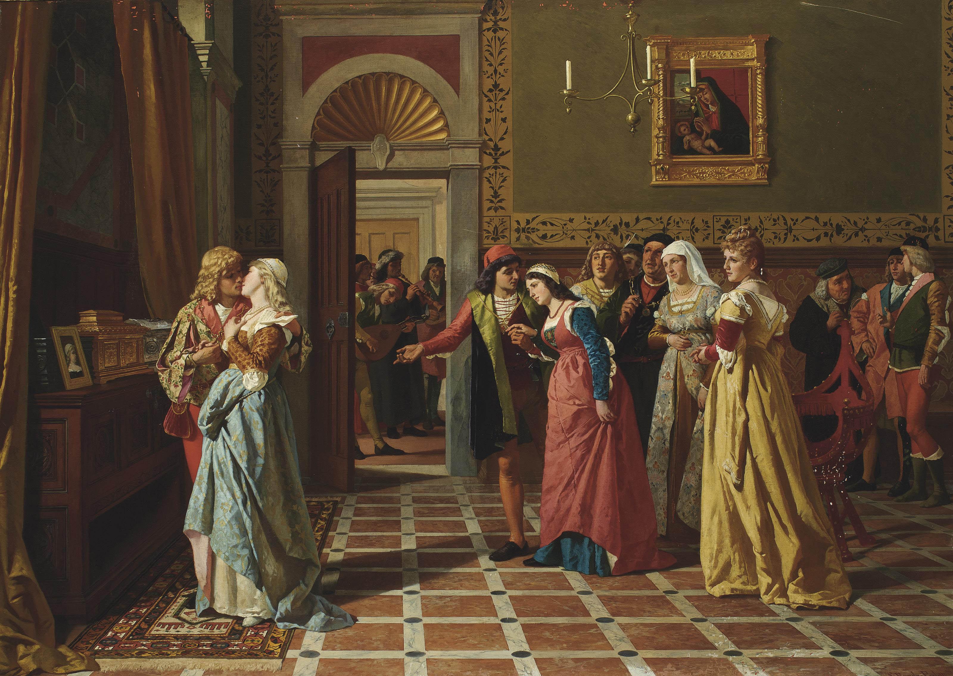 Bassanio winning the heart of Portia, The Merchant of Venice
