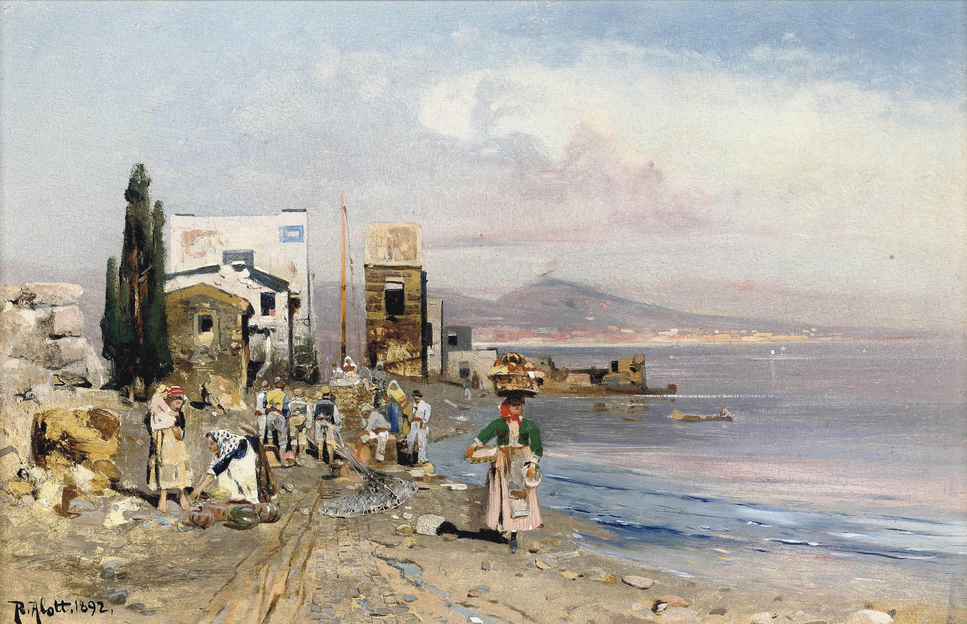Fisherfolk on the Neapolitan coast