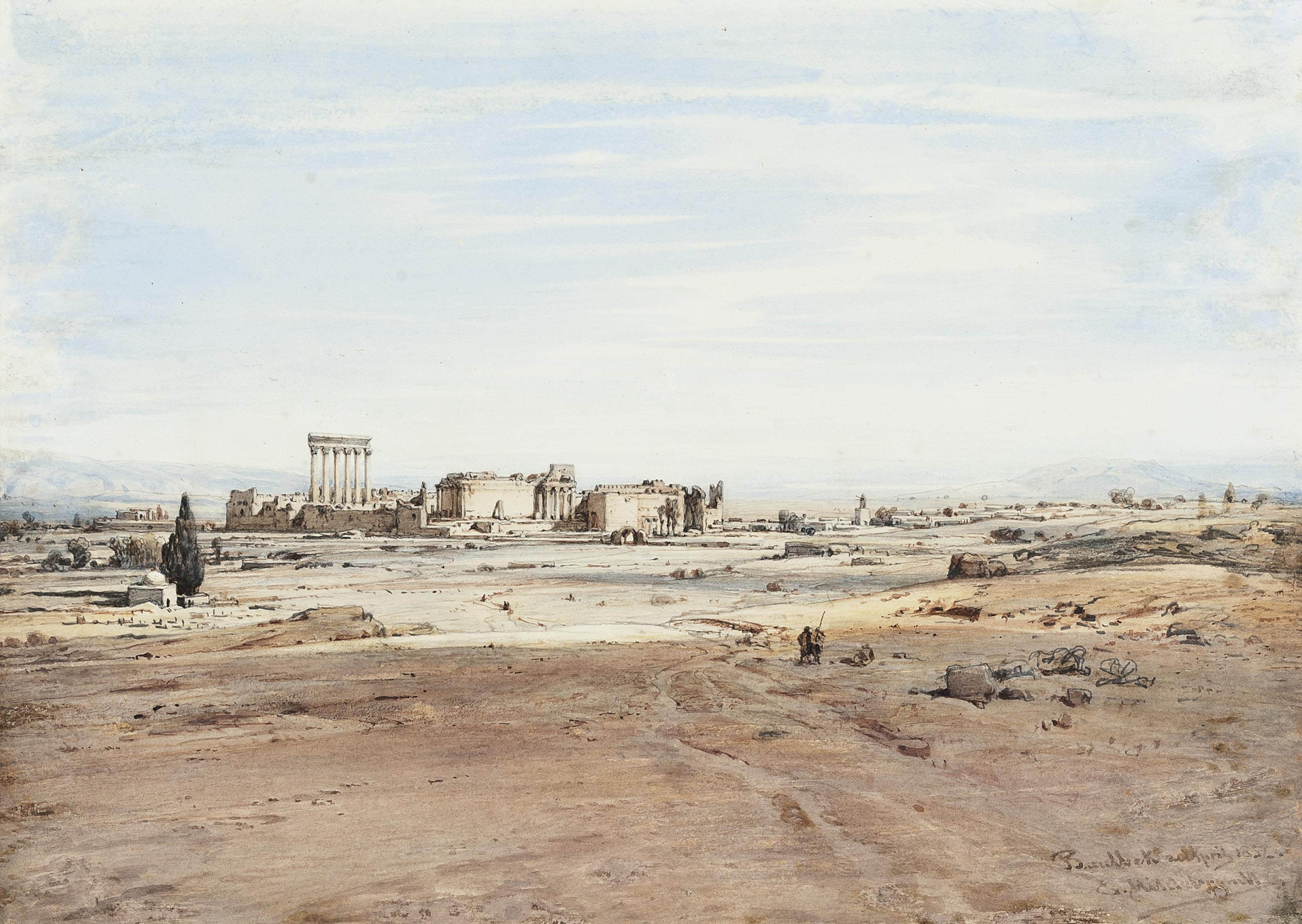 A view of Baalbek in the Lebanon
