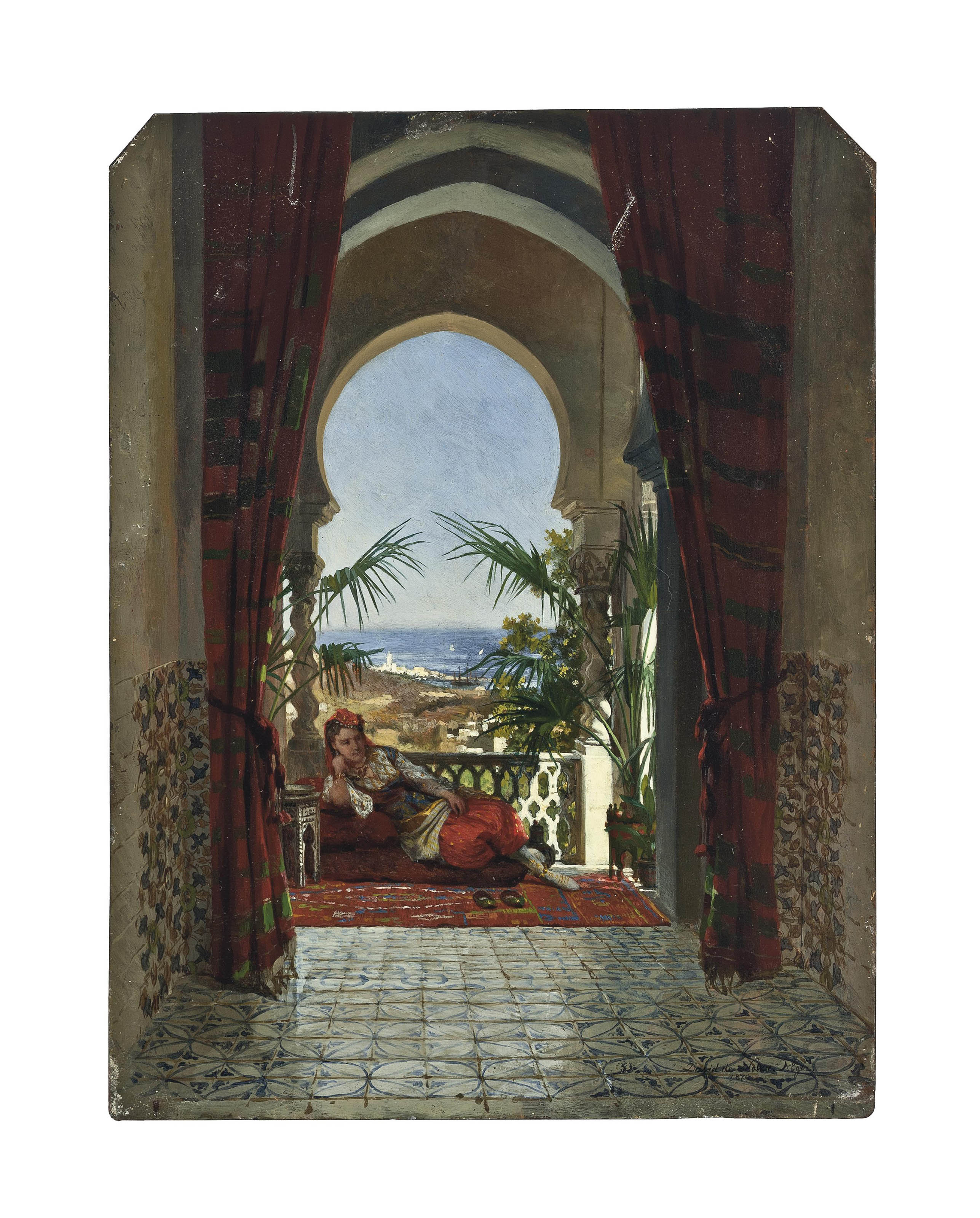 An odalisque on a terrace, Algiers