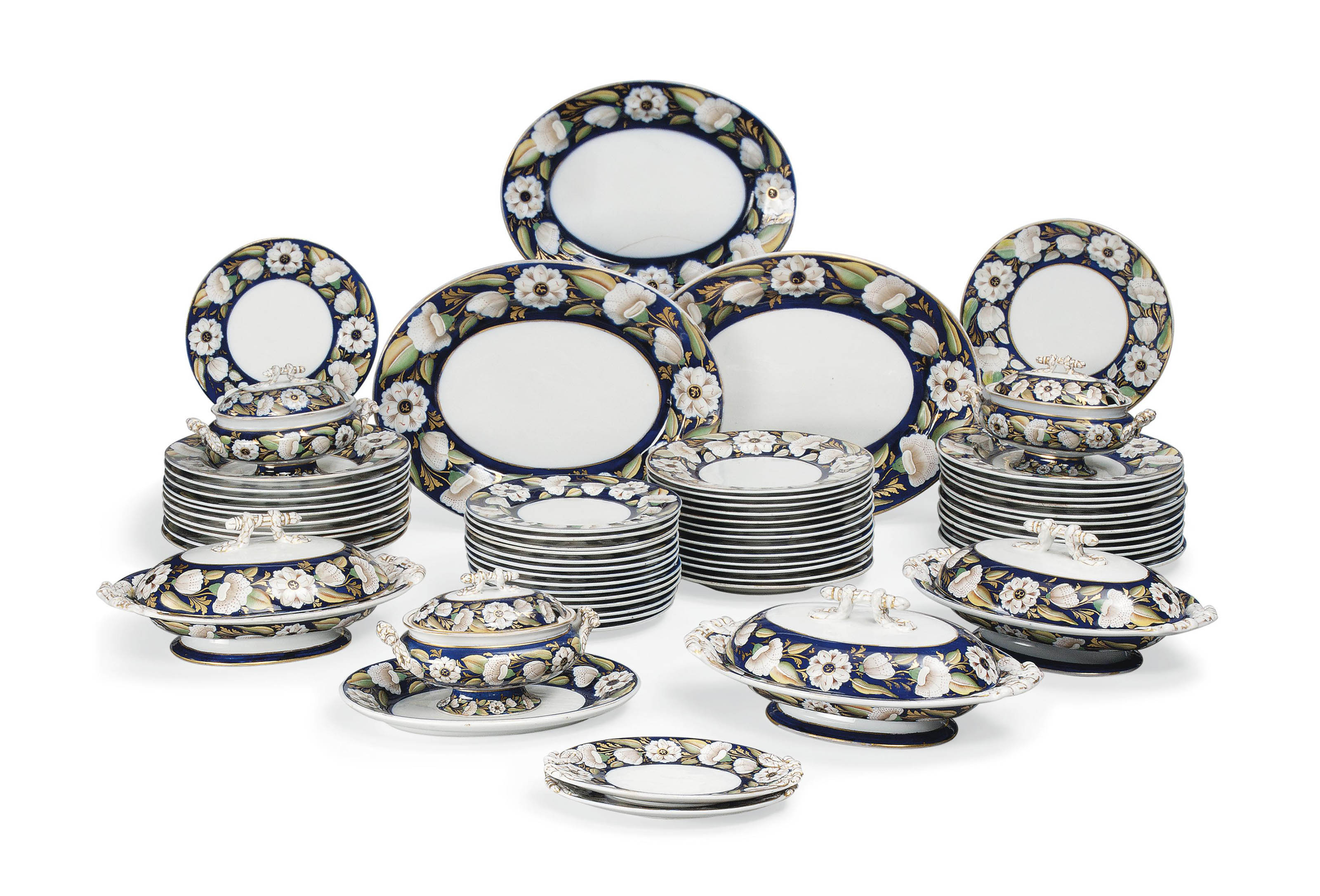 AN ASHWORTHS REAL IRONSTONE CHINA PART DINNER-SERVICE