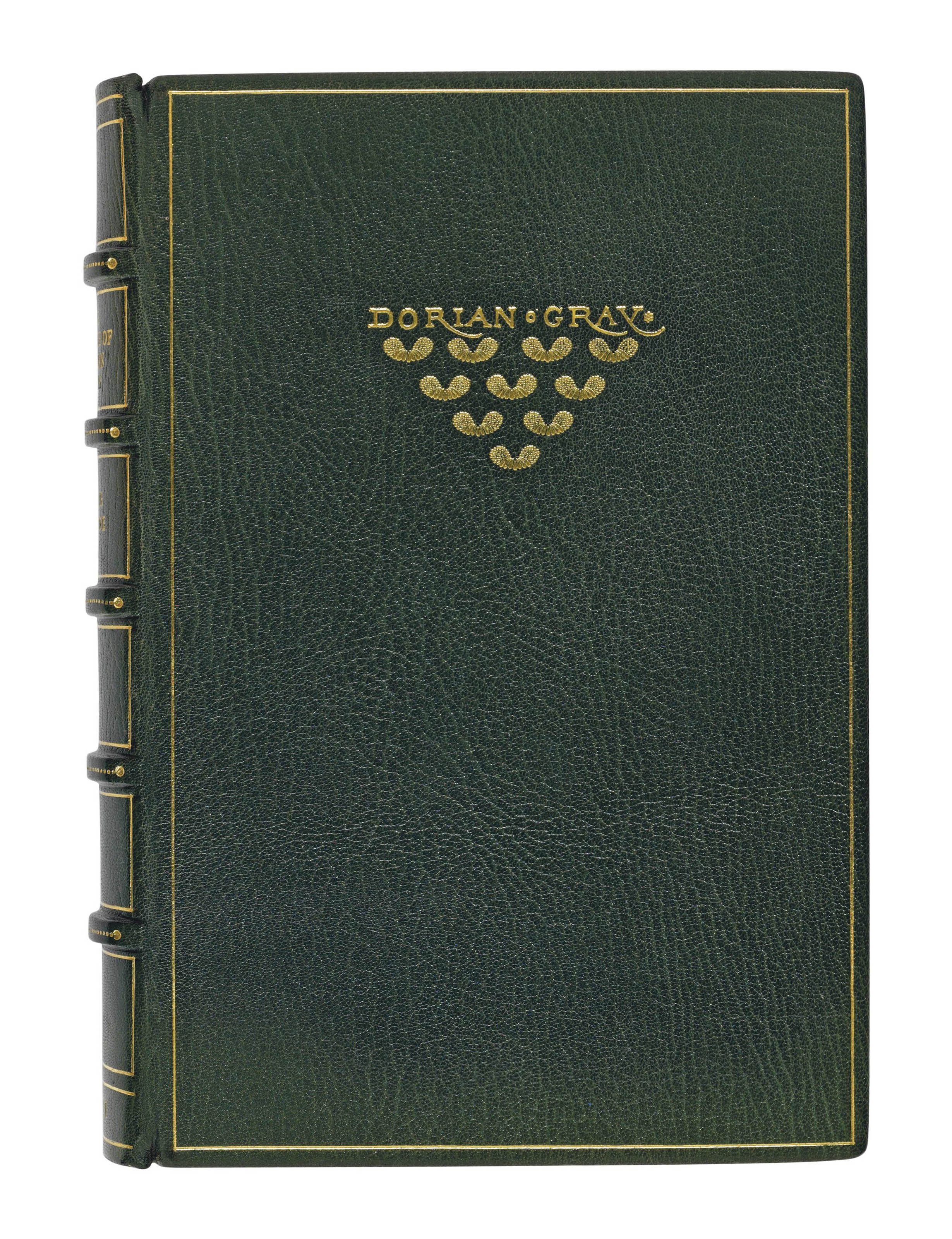 WILDE, Oscar (1854-1900). The Picture of Dorian Gray. London: Ward Lock, [1891]. 8° (187 x 125mm). Green morocco gilt by the Chelsea Bindery, front cover with gilt design after the original cloth, spine gilt, top edge gilt, others uncut. FIRST EDITION with 'nd' on p. 208. Mason 328.