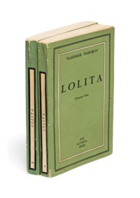 NABOKOV, Vladimir (1899-1977). Lolita. Paris: The Olympia Press, 1955. 2 volumes, 8° (176 x 110mm). Original green printed wrappers (clean tear and light chipping to head -and tail of spines, a few light creases).