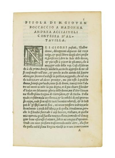 BOCCACCIO, Giovanni (1313-75).