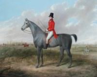 A gentleman on his grey hunter, a hunt beyond