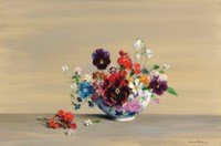 Flowers in a china bowl
