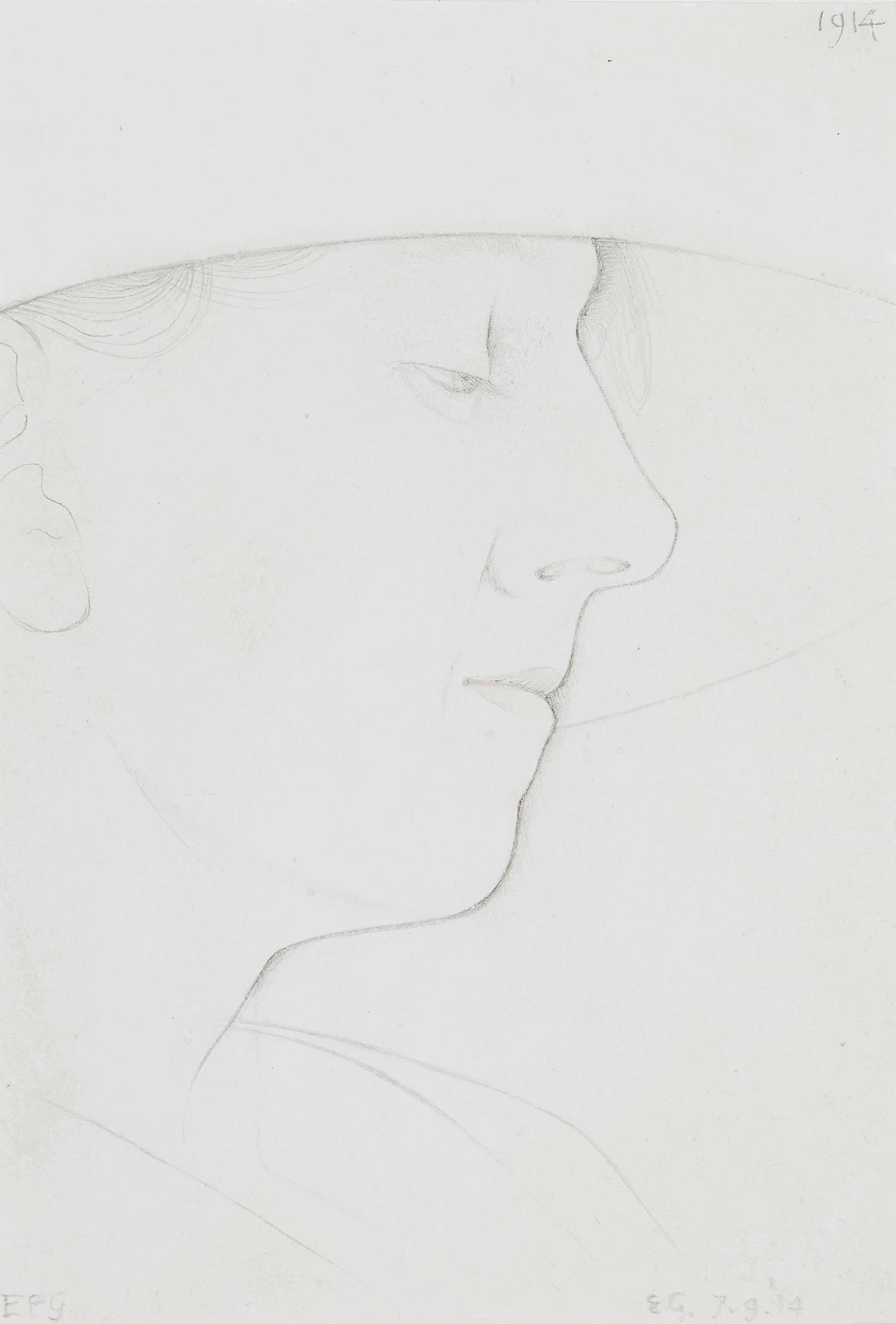 Portrait of EPG (the artist's wife)