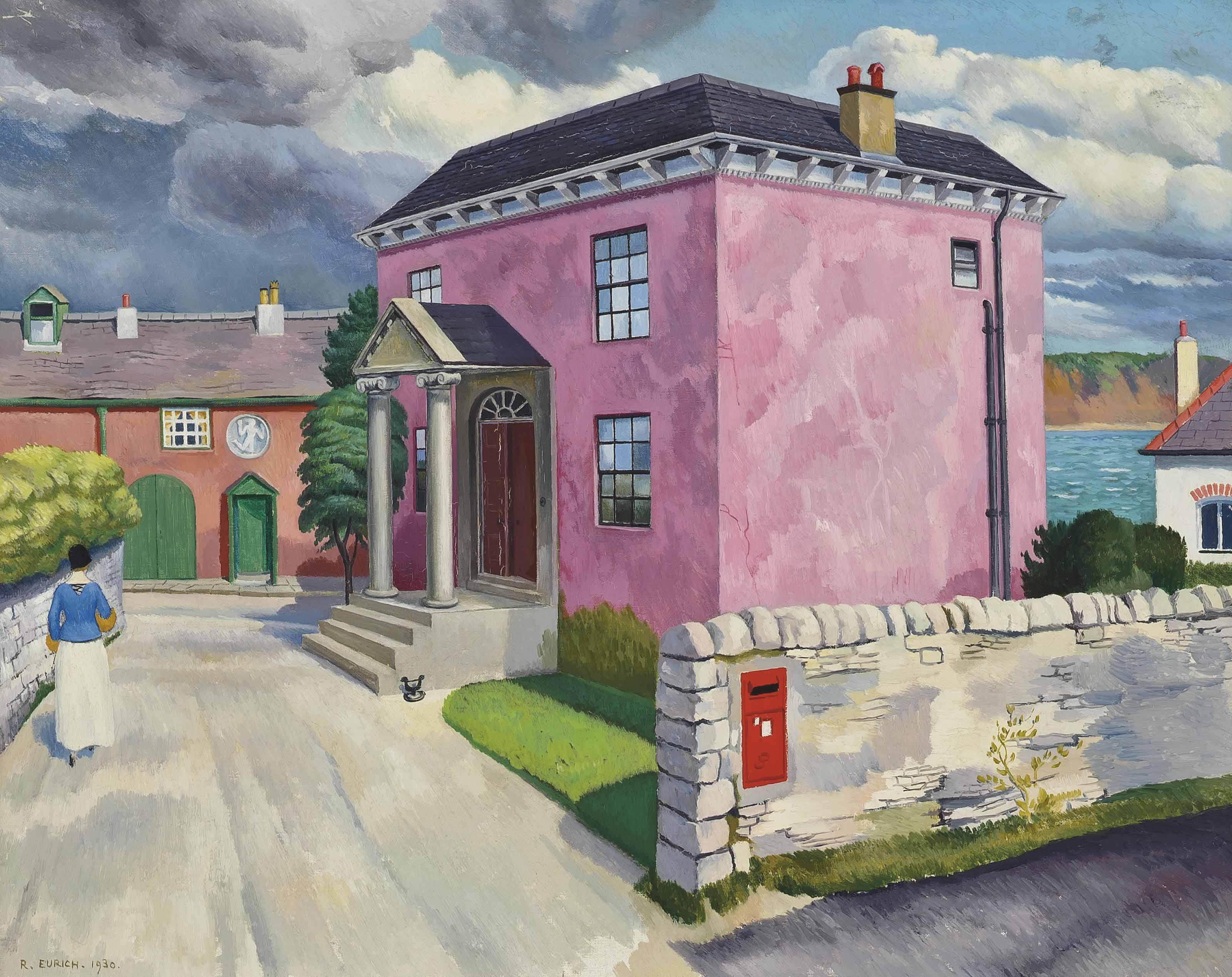 Richard Eurich, R.A. (1903-1992) | The Pink House | 20th Century ...