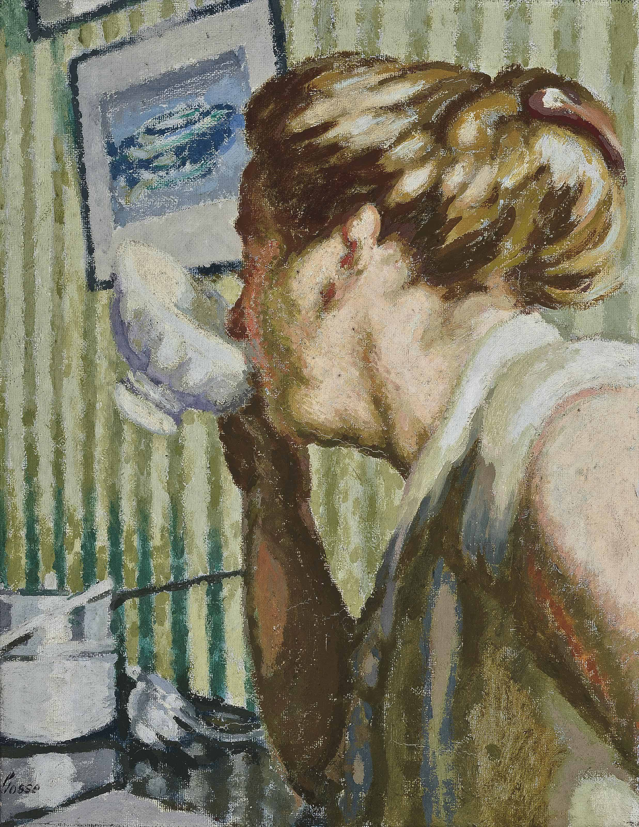 Woman Drinking (The brimming bowl)