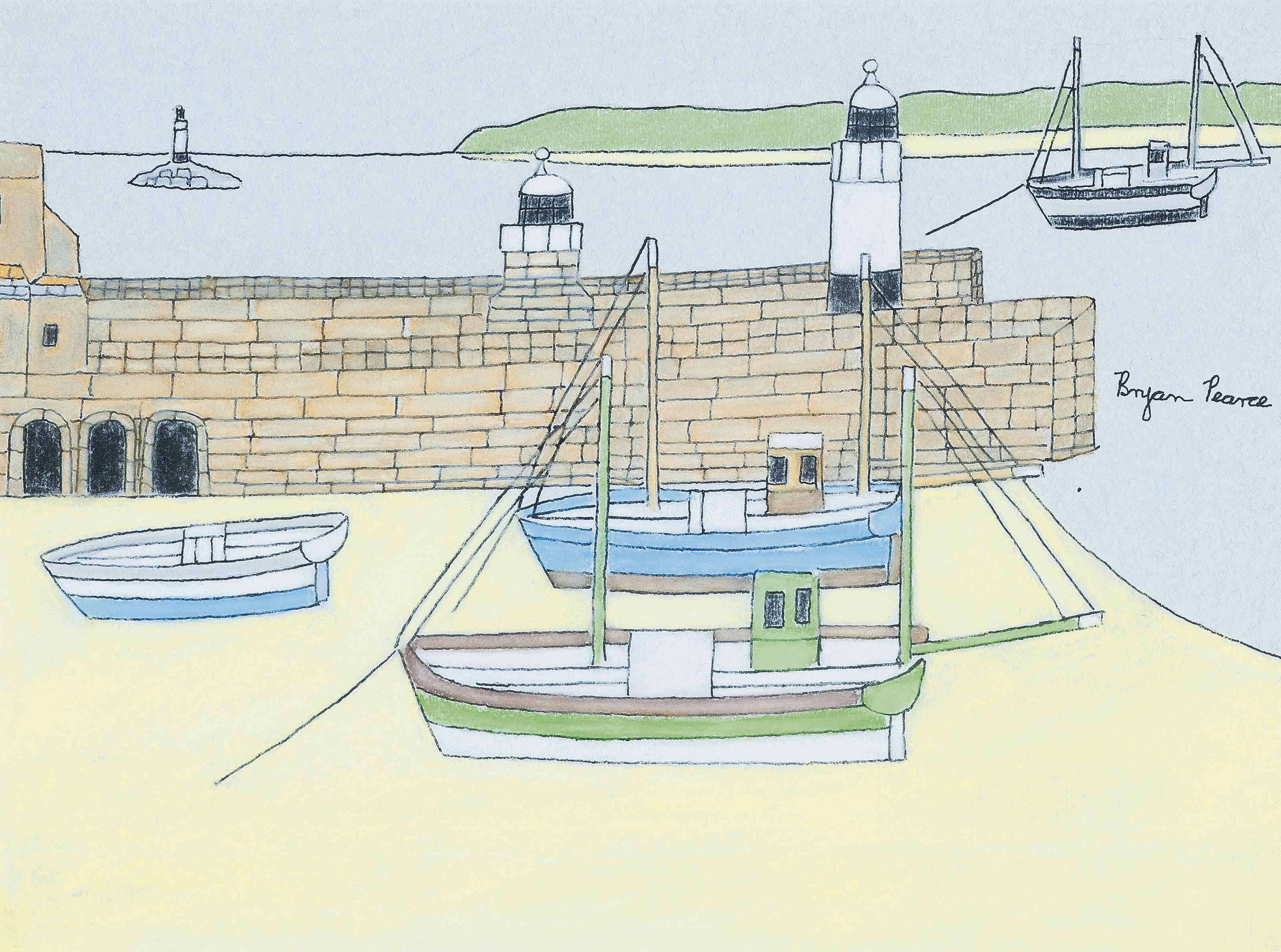Harbour, low tide, St. Ives