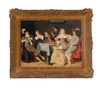 Elegant company making merry in an interior