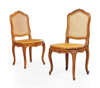 A PAIR OF LOUIS XV BEECH SIDE