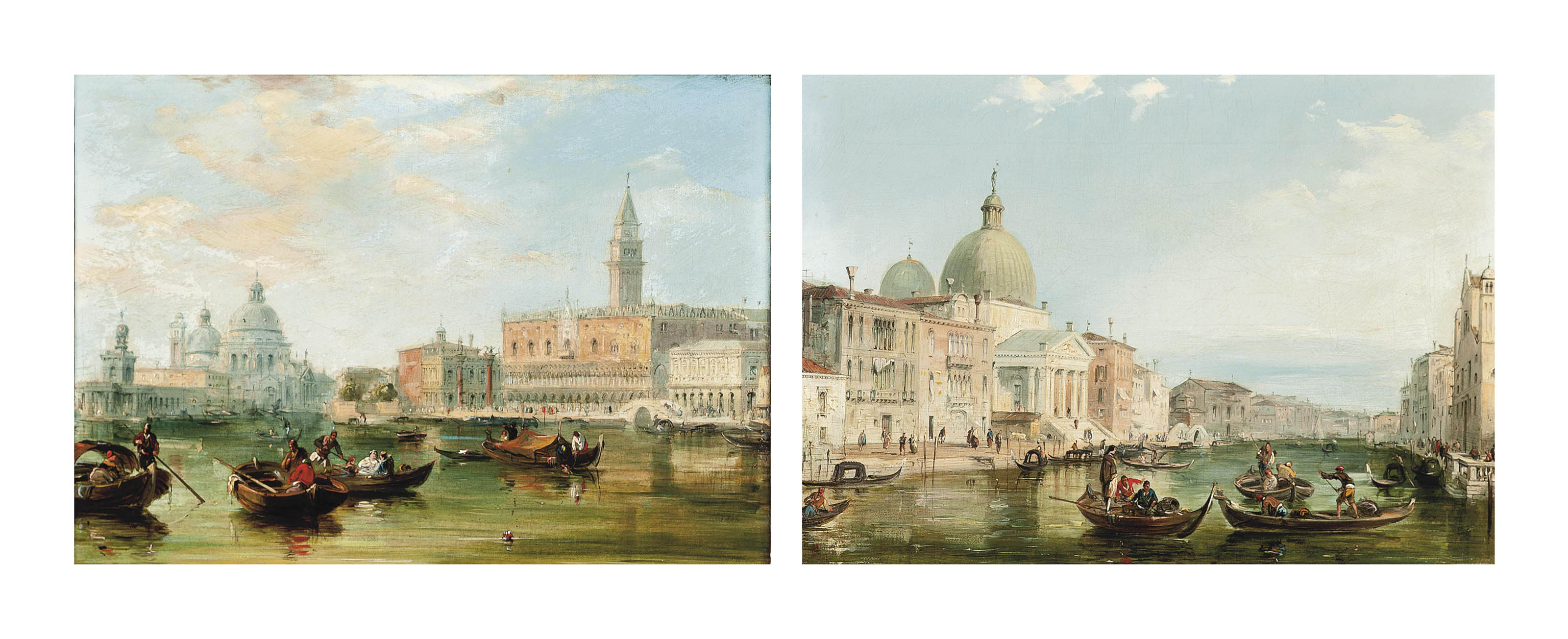 The Grand Canal, Venice; and The Bacino, Venice