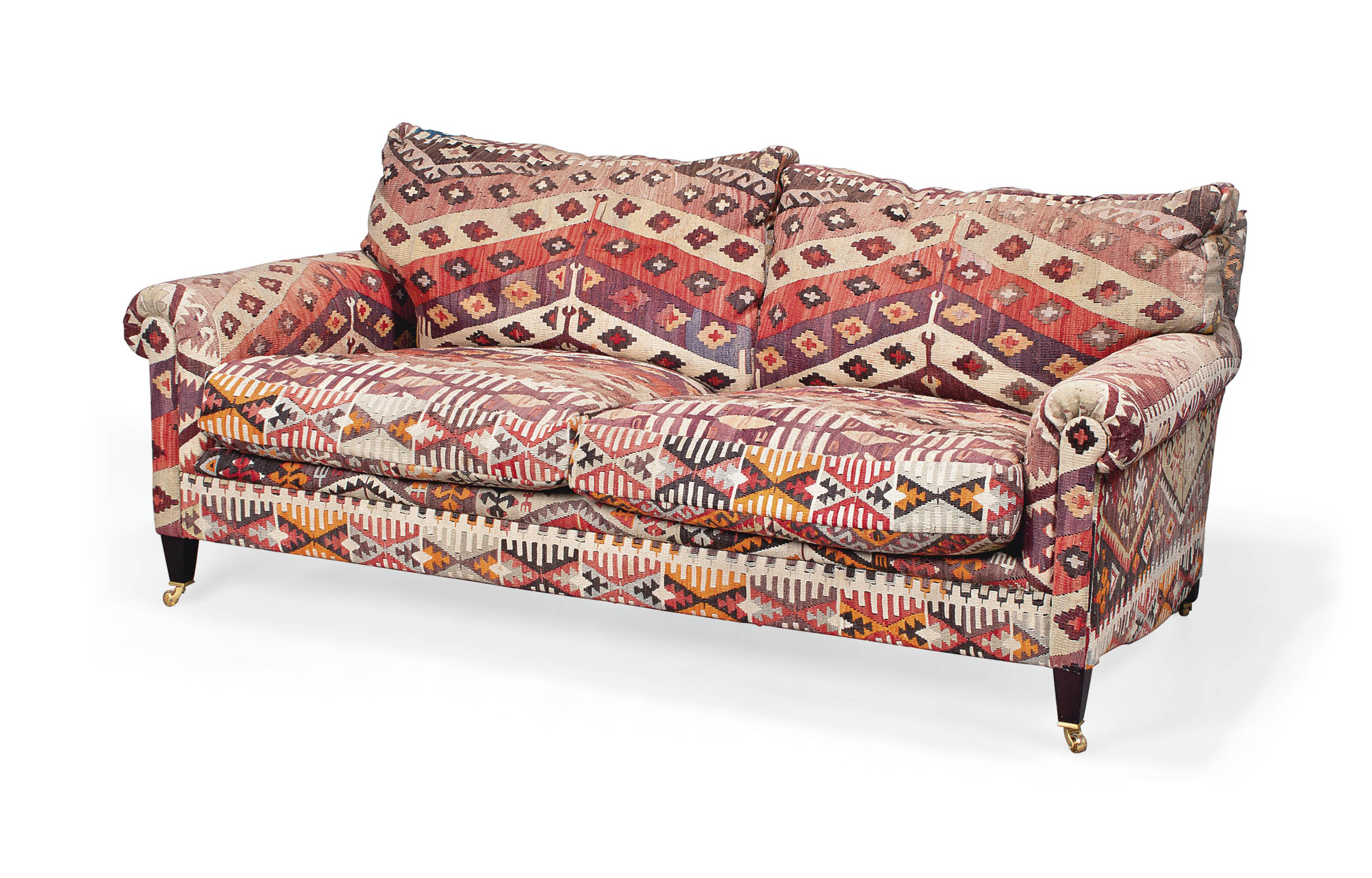 A GEORGE SMITH KILIM UPHOLSTER