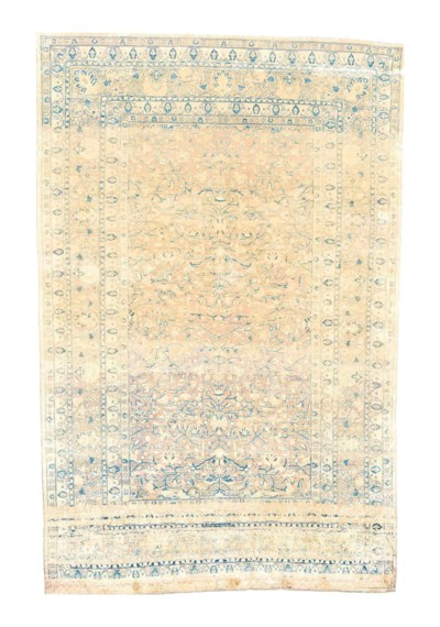 AN EXTREMELY FINE SILK KASHAN