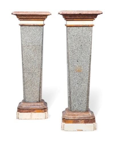 A PAIR OF ITALIAN GRANITE AND