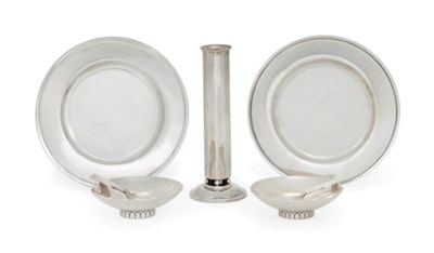 A SMALL GROUP OF GEORG JENSEN