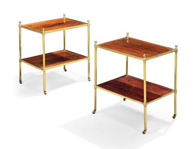 A PAIR OF LACQUERED BRASS MOUN