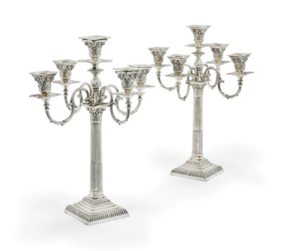 A PAIR OF EDWARDIAN SILVER 5-L