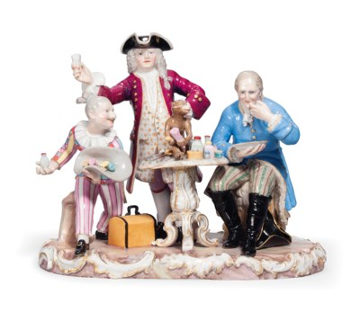 A MEISSEN GROUP OF 'THE DENTIS