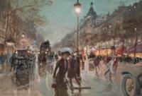 Figures on the Champs Elysée, Paris