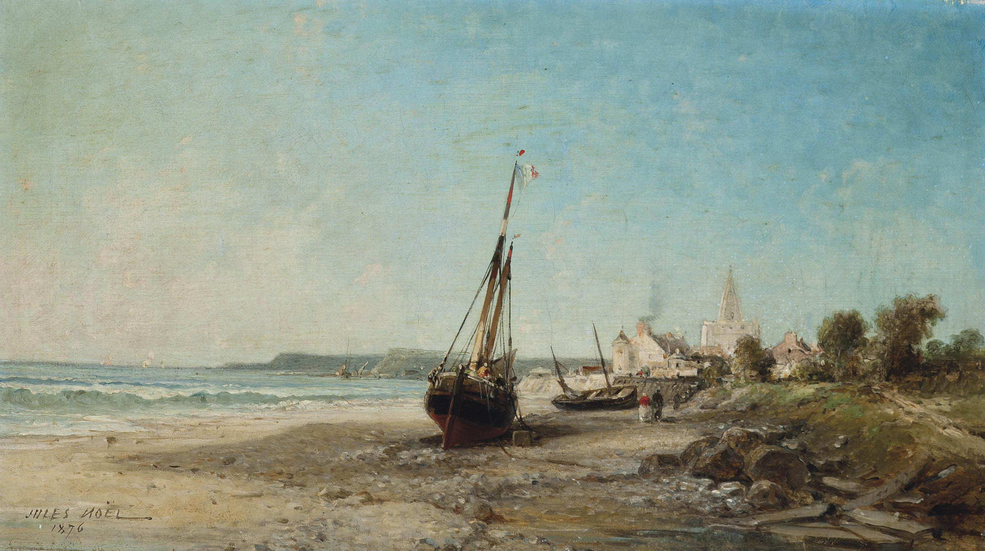 Low tide at Tréport