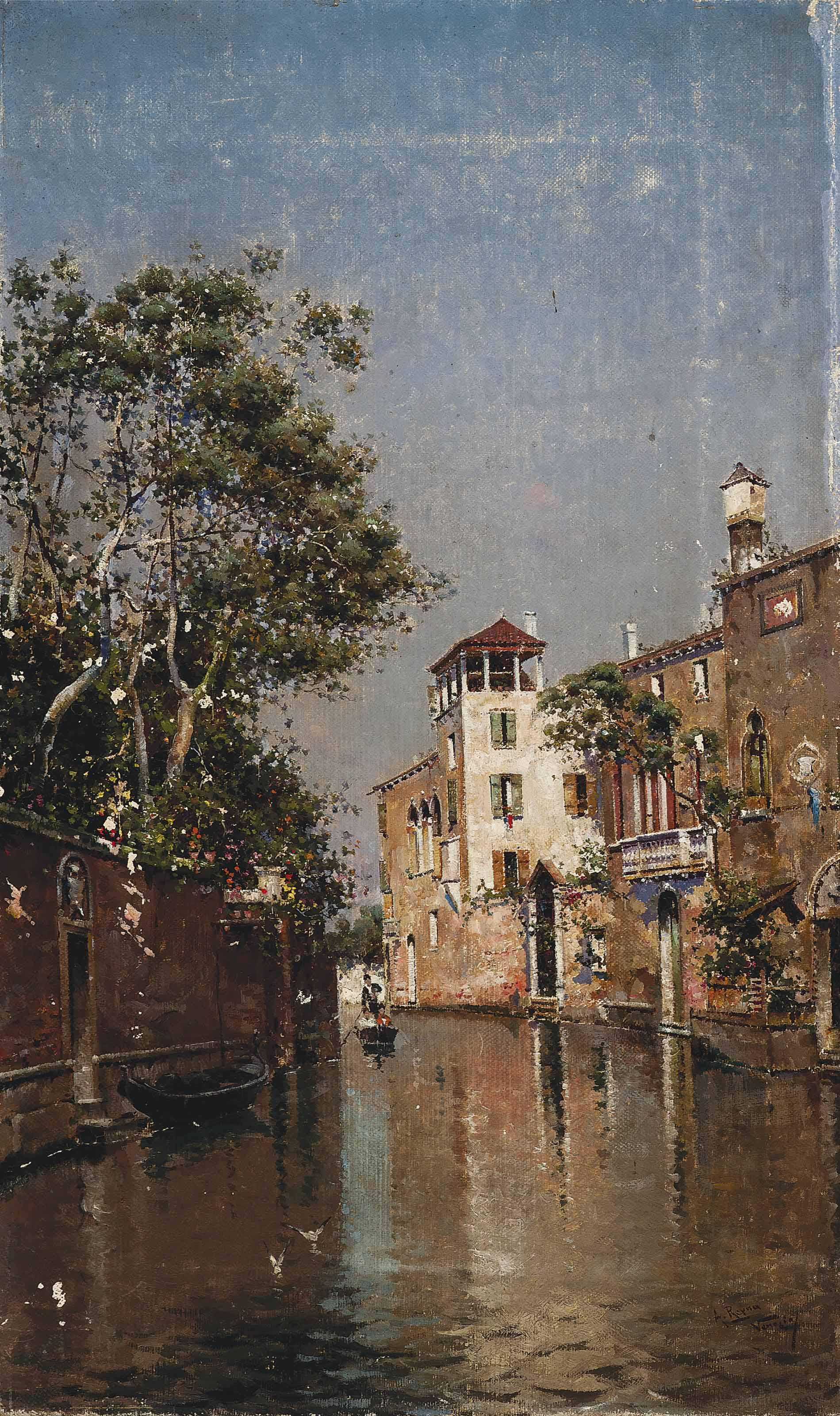 A gondola ride on a Venetian backwater