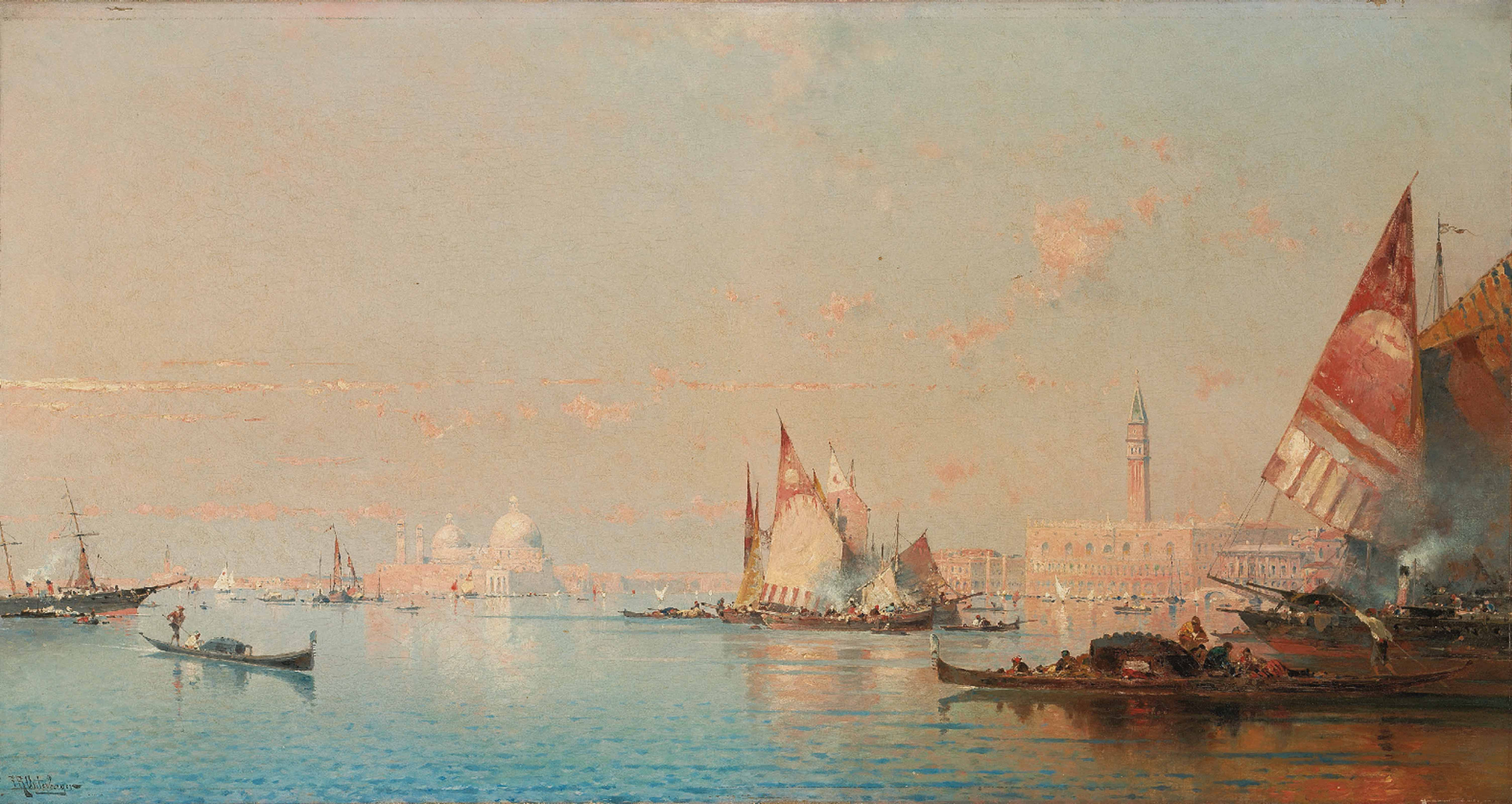 A view across the Lagoon towards the Grand Canal