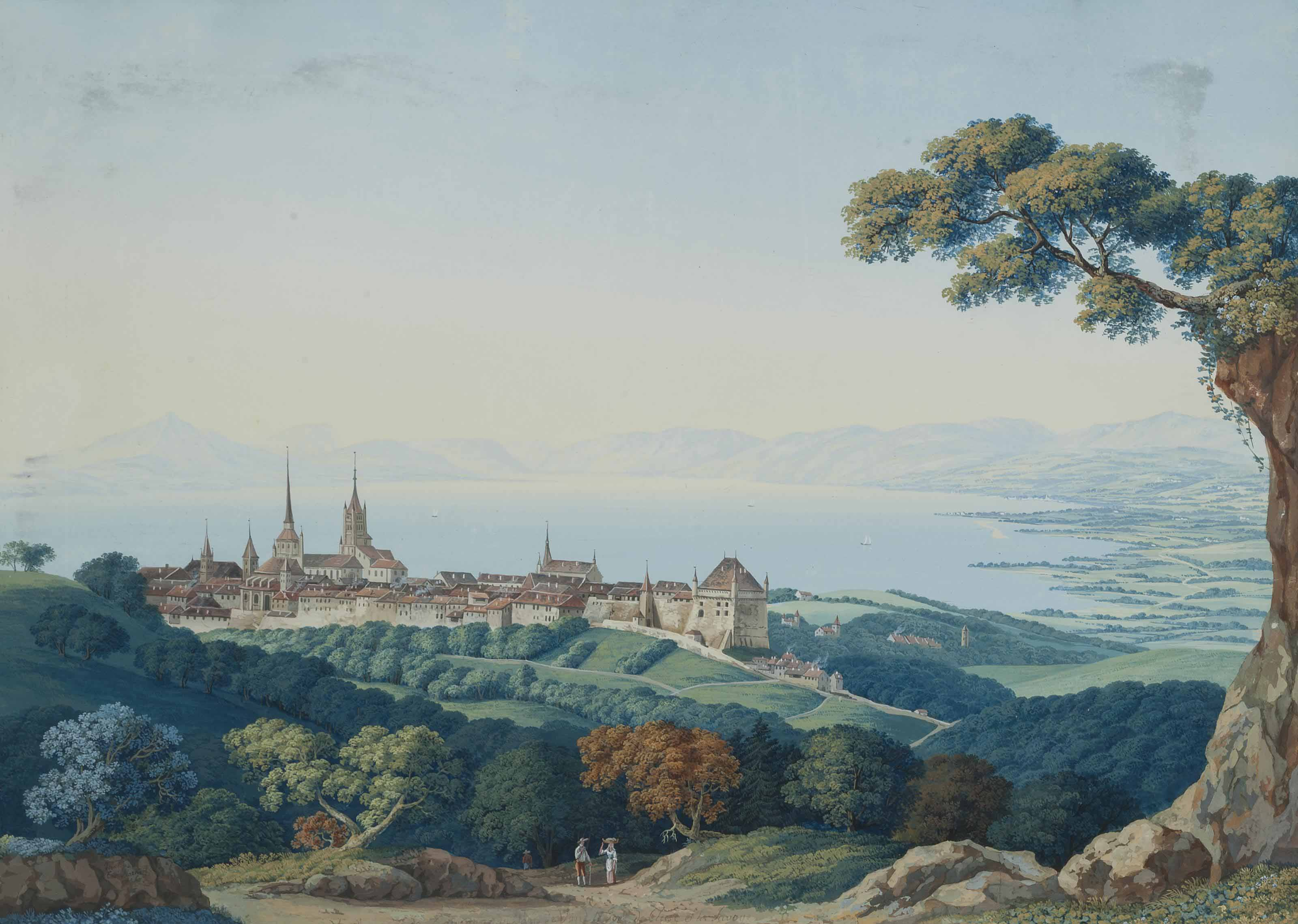 A view of Lausanne