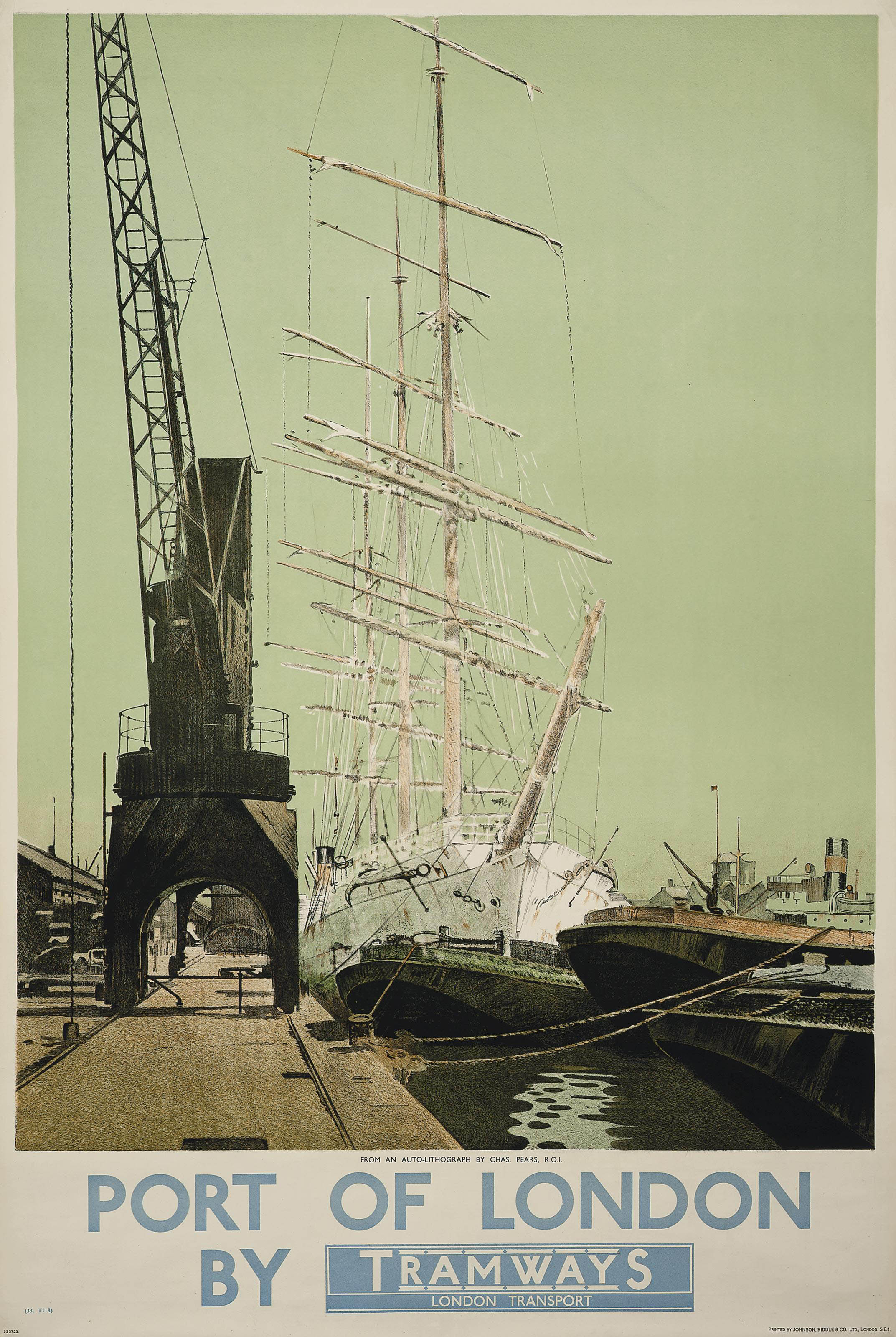 PORT OF LONDON BY TRAMWAYS