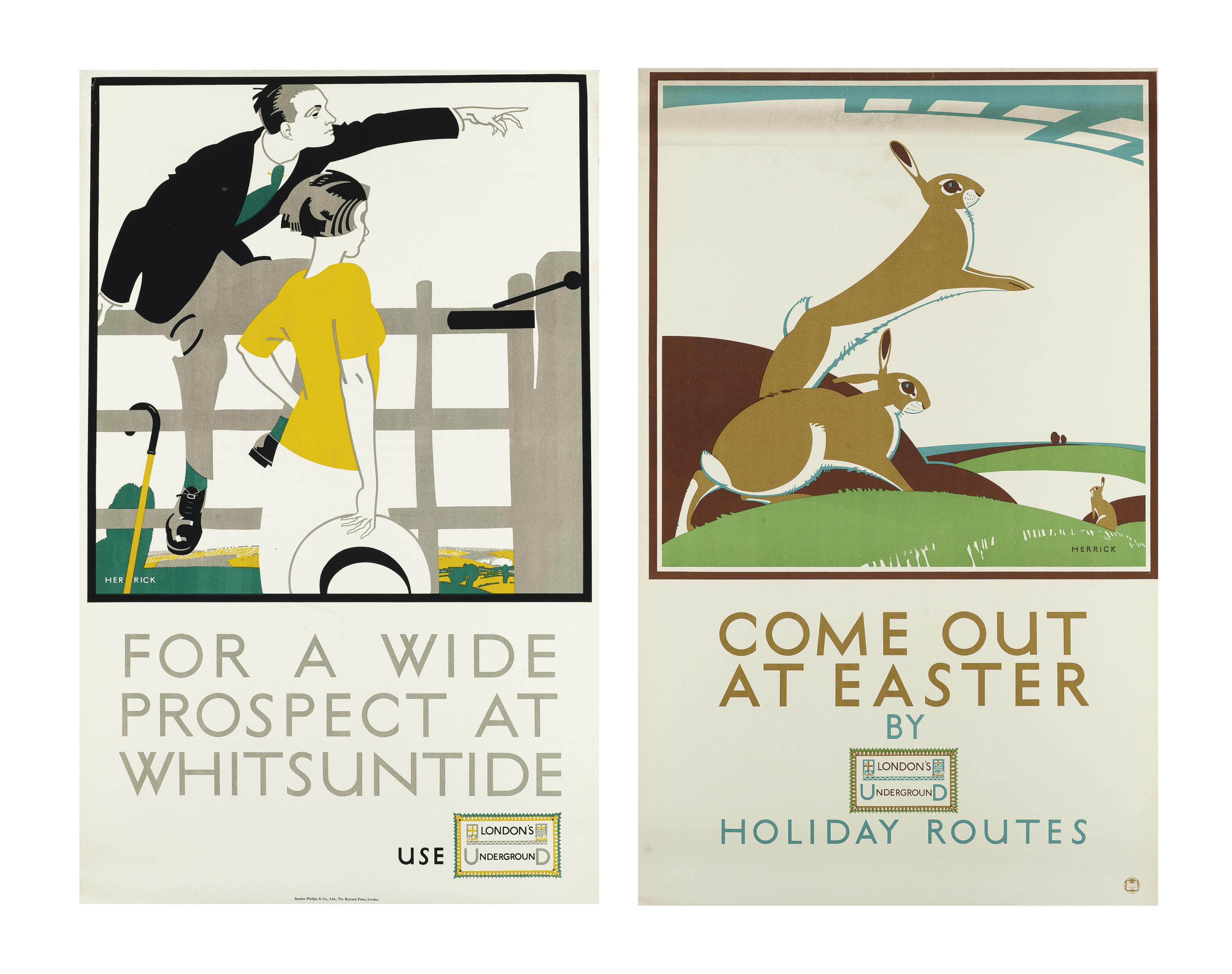 'FOR A WIDE PROSPECT AT WHITSUNTIDE' & 'COME OUT AT EASTER'