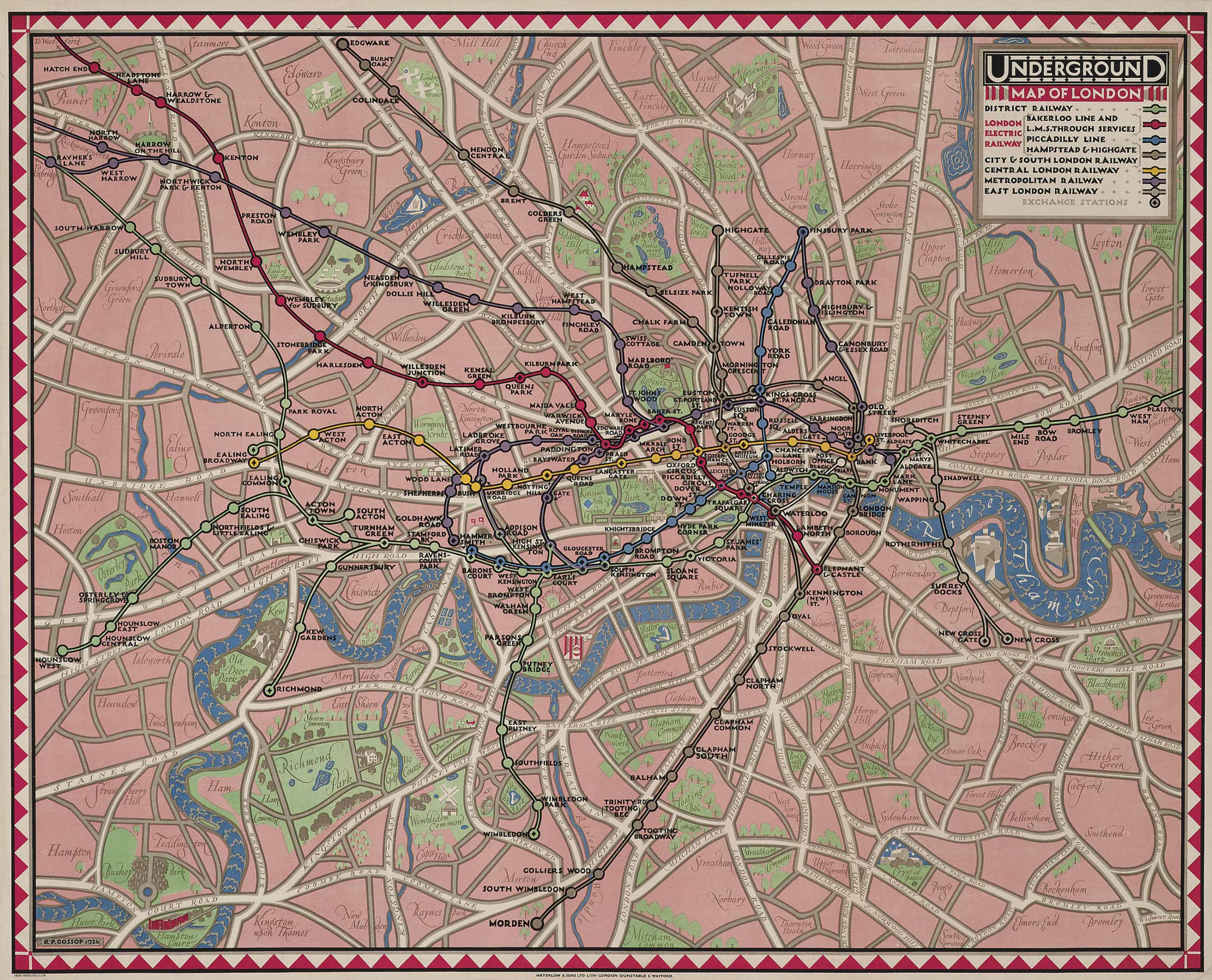 UNDERGROUND MAP OF LONDON