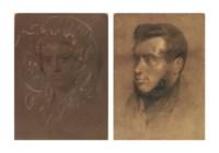 Portraits said to be of John Morphett and Elizabeth Morphett (née Fisher), head and shoulders