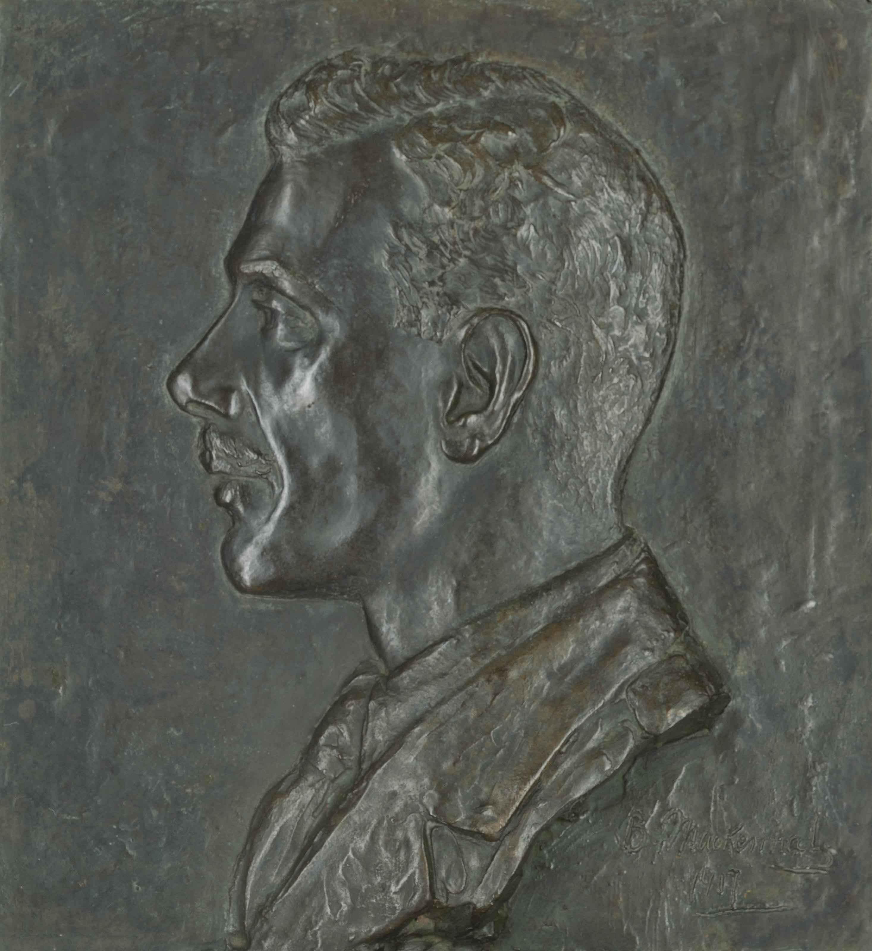 A relief portrait of an officer