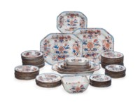 A SPODE IRONSTONE PART DINNER-SERVICE