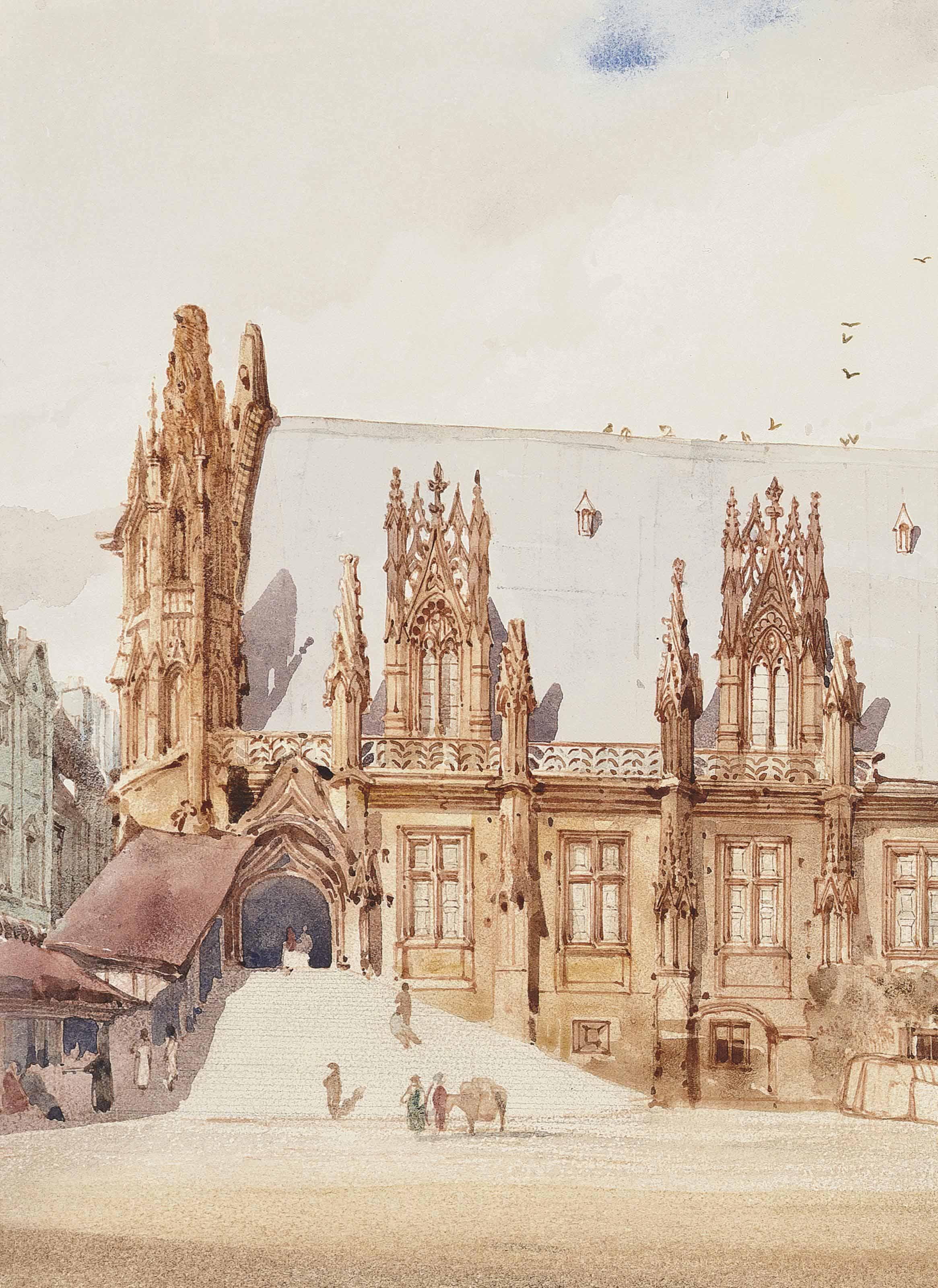 The Palais de Justice, Rouen, France