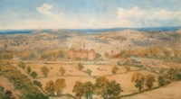A country house, in an extensive landscape, thought to be North Yorkshire
