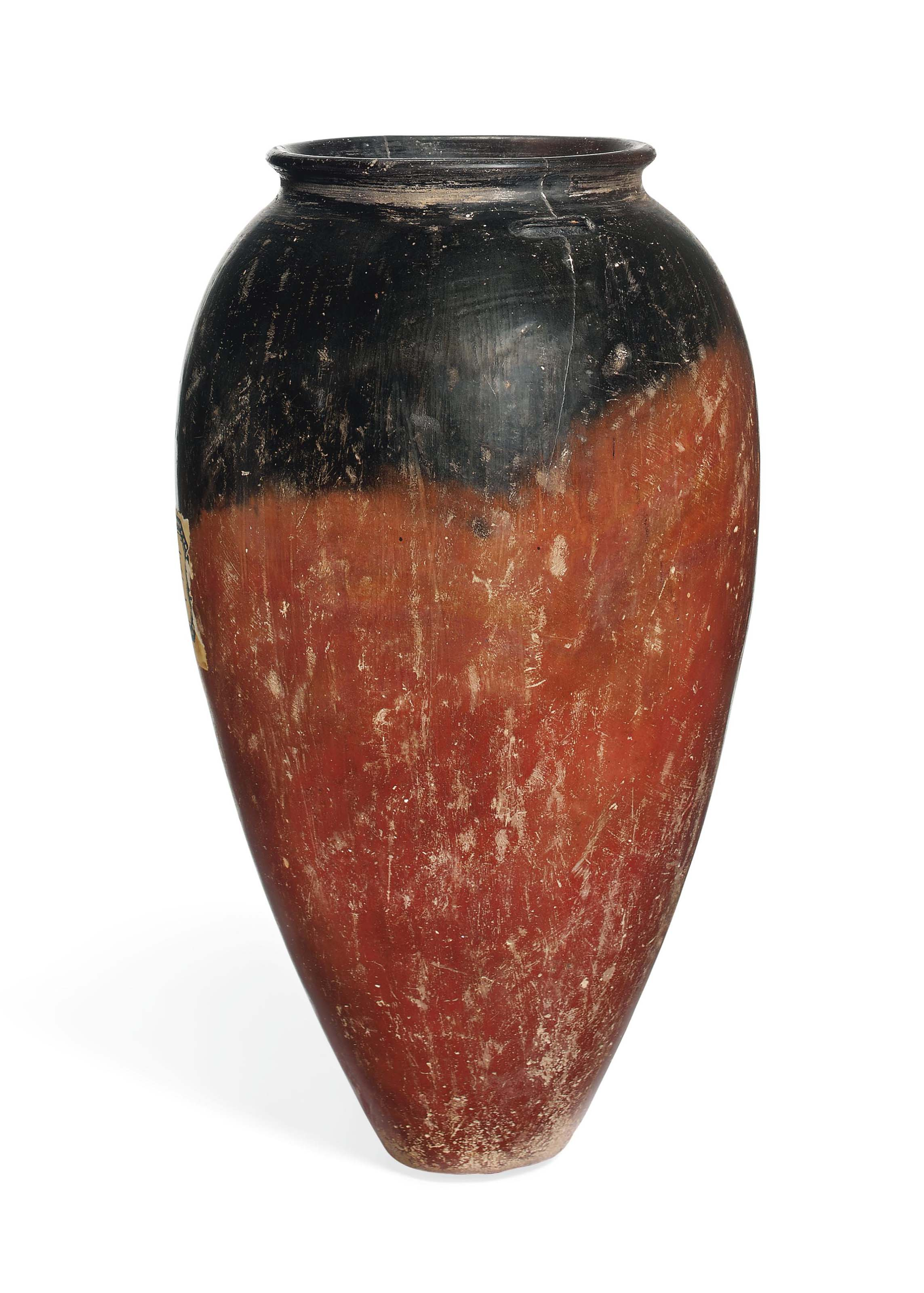 Image result for AN EGYPTIAN BLACK-TOPPED REDWARE JAR PREDYNASTIC, NAQADA I, CIRCA 4000-3600 B.C.