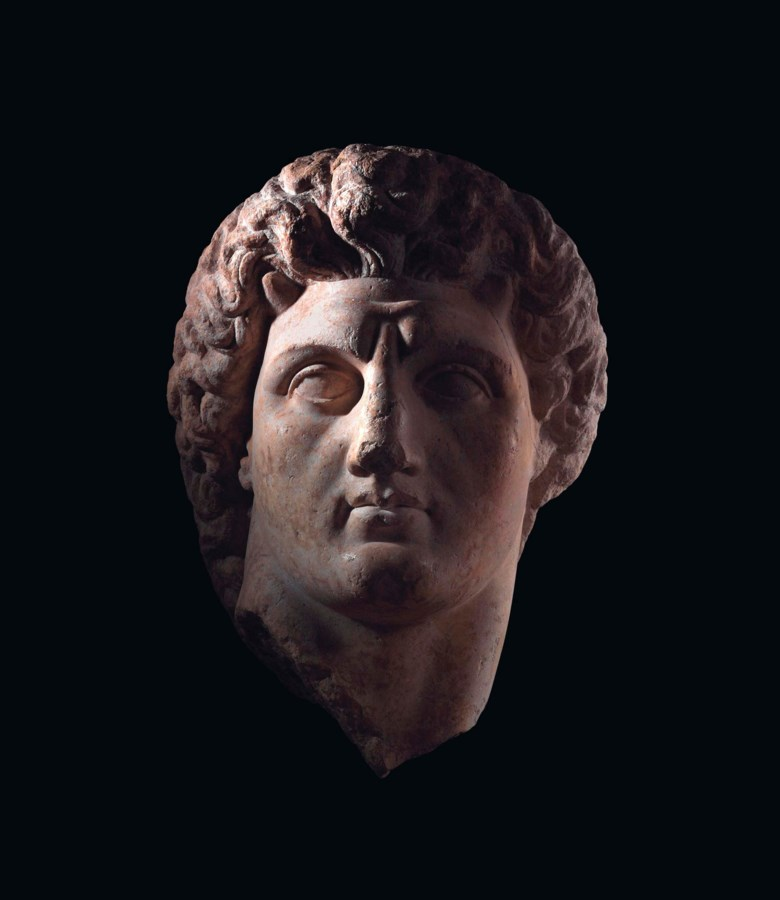 A colossal Greek marble head of a Hellenistic ruler, Hellenistic period, circa 3rd-2nd century BC. 30 in (76 cm) high. Sold for £1,049,250 on 25 October 2012 at Christie's in London